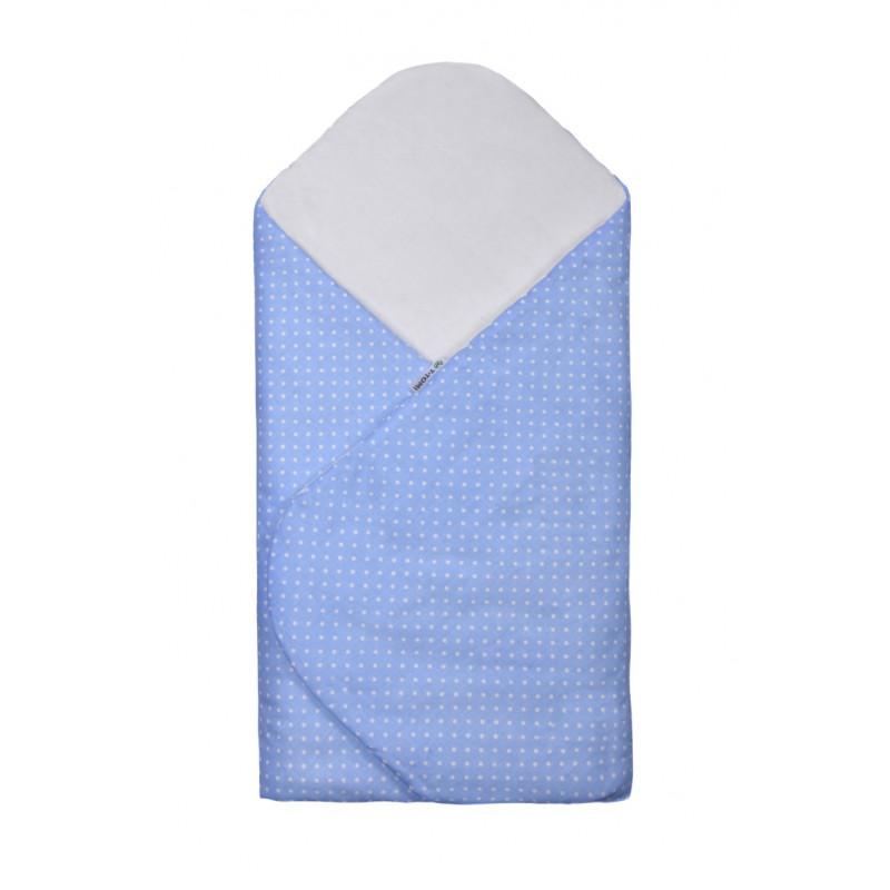 Swaddle wrap, blue / little dots