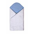 Swaddle wrap MINKY, white / blue dots