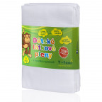 Cloth diapers TETRA, HIGH QUALITY, white, 70x70, 5pcs.