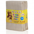 Cloth diapers TETRA, HIGH QUALITY, unbleached, 70x70, 10pcs.