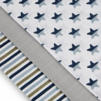 Cloth diapers TETRA, TOP QUALITY, with printing, 70x70, blue stars