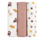 Cloth diapers TETRA, TOP QUALITY, with printing, 70x70, monkies