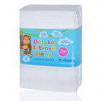 Cloth diapers TETRA, HIGH QUALITY, white, 70x70, 10pcs.