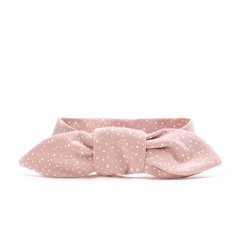 Tying headband for adults, pink dots