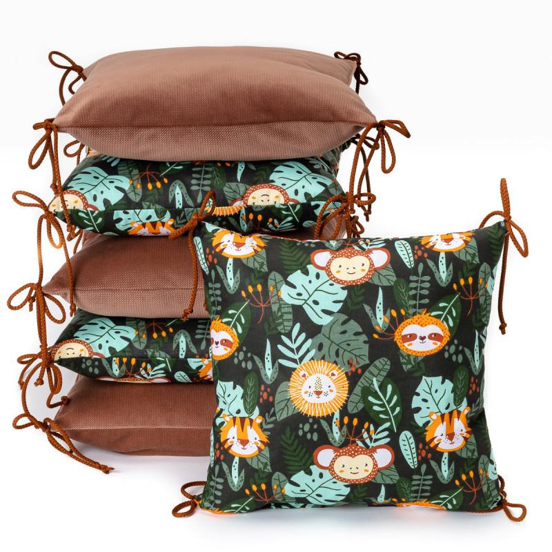 Pillow baby bumper VELVET, jungle