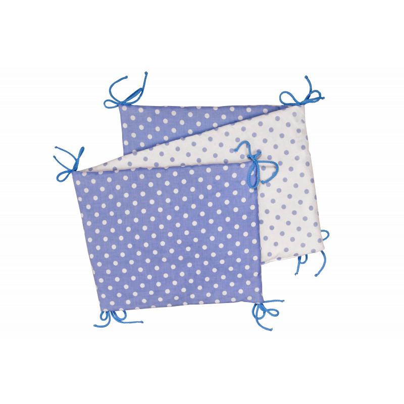 Folding baby bumper, blue / little dots