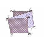 Folding baby bumper, grey / dots