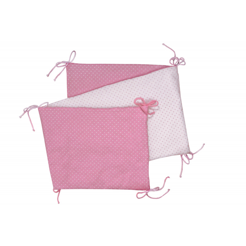 Folding baby bumper, pink / little dots